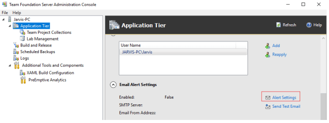 Configuring Notifications Emails In TFS