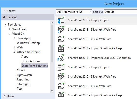 Create SharePoint 2016 Solutions In Visual Studio 2015