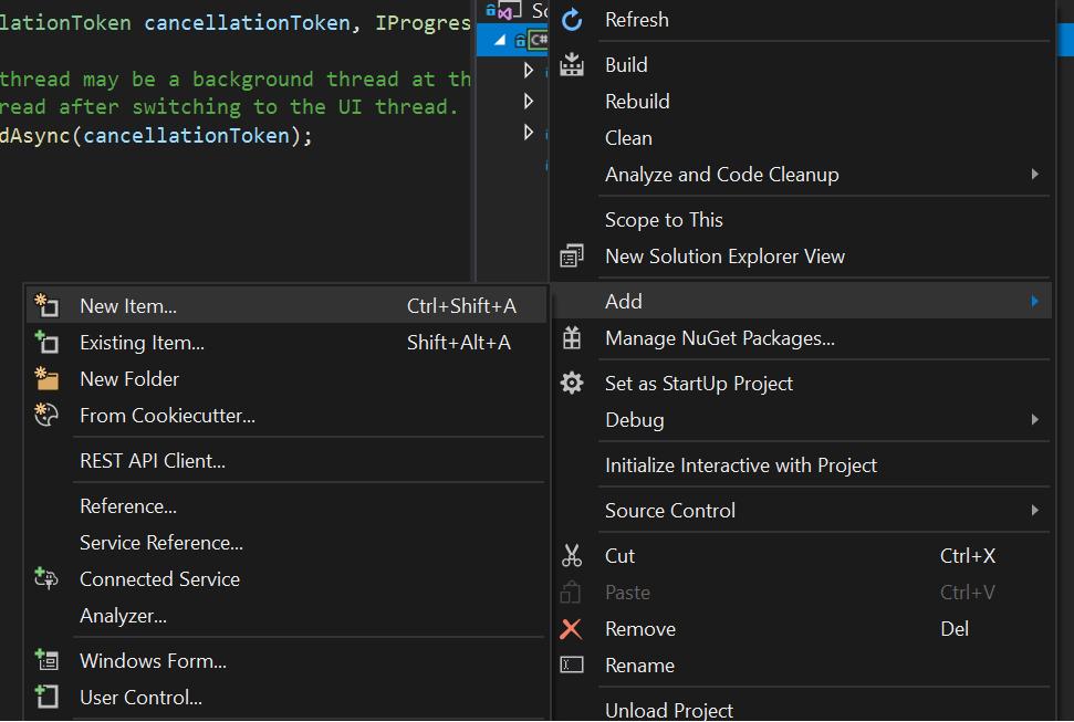 Creating Visual Studio 2019 Extension