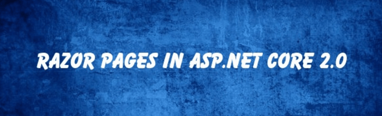 CRUD Operation With Razor Pages In ASP NET Core 2 0
