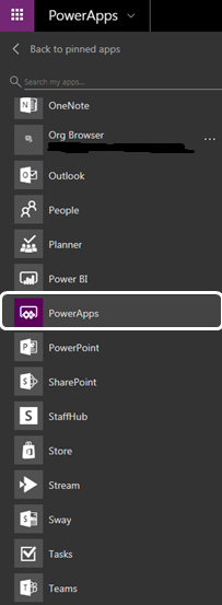 CRUD Operations Using Powerapps