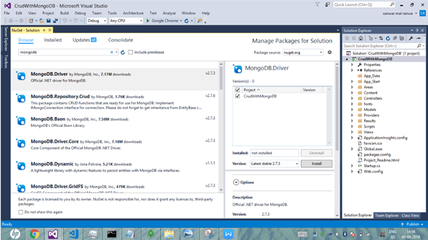 Managing NuGet package