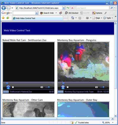 Display Videos In Asp Net