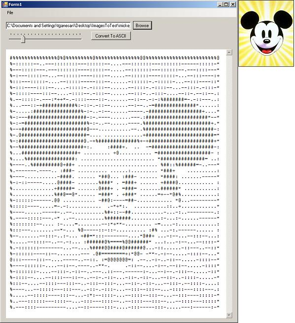 Generating ASCII Art from an Image using C#