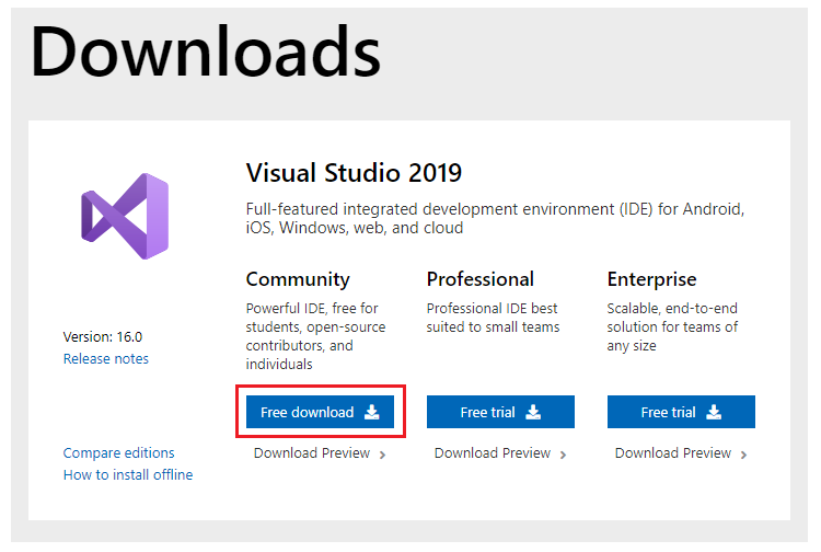 Getting Started With Visual Studio 2019 Community Edition