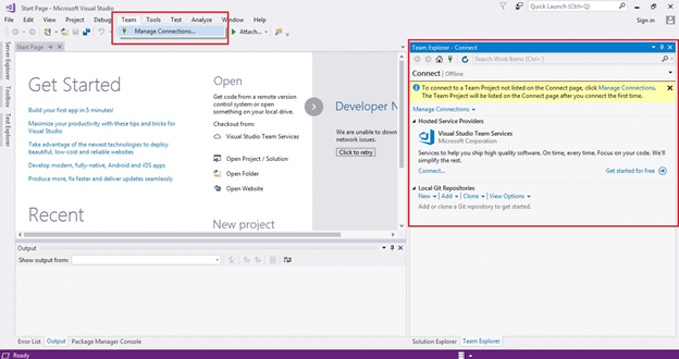 How To Configure Git Version Control In Visual Studio Team