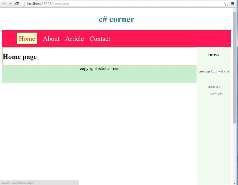 Master Page In Asp Net