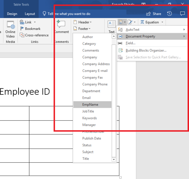 How To Fill SharePoint Metadata In Word Document Template
