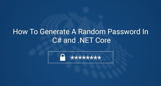 Random Password In C#