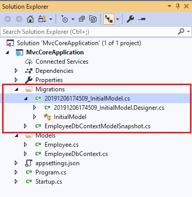 Install Entity Framework Core With Empty Template In ASP.NET MVC Core 3.0