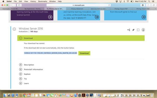 Installing Windows Server 2016 On MacBook Using VirtualBox