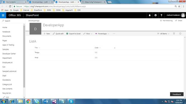 Join Two Lists Using REST In SharePoint 2013