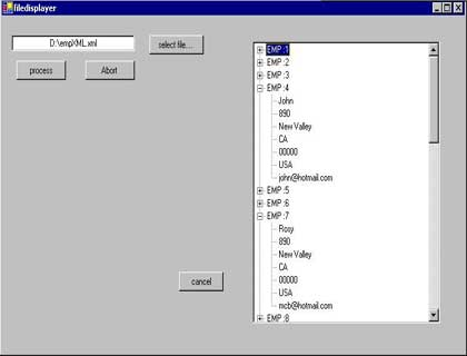 Loading XML File in a TreeView Control using Multithreading