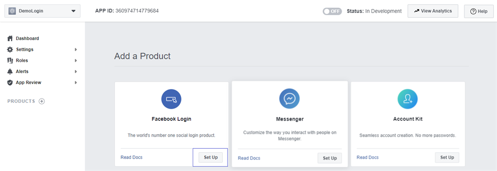 Adding a product to application