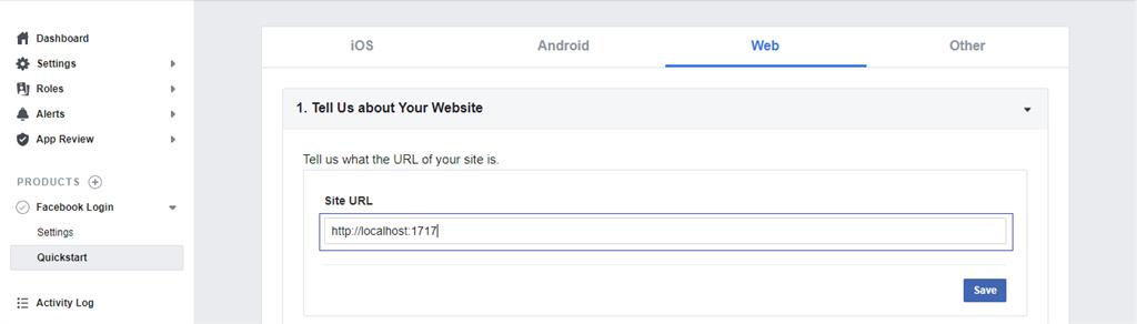 Adding site URL