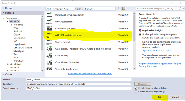 MVC 5 Demo Project With Entity Framework (DB First)