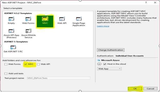MVC 5 Demo Project With Entity Framework (DB First)