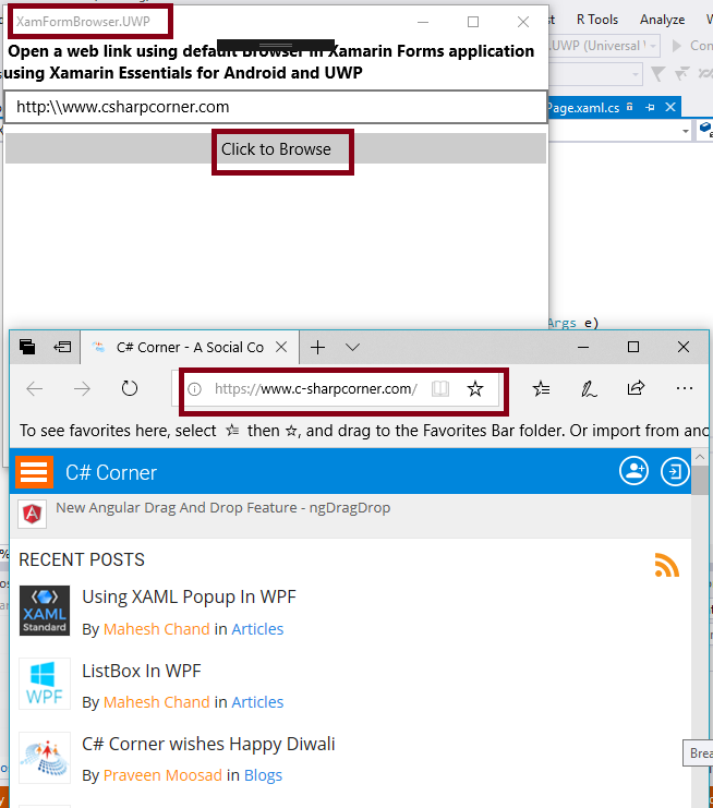 Open A Web Link With Default Browser In Xamarin Forms