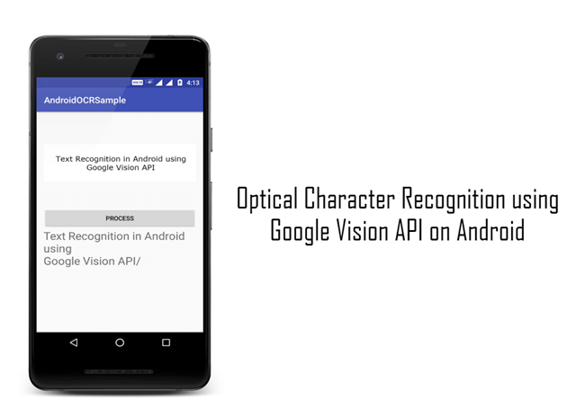 Optical Character Recognition Using Google Vision API On Android