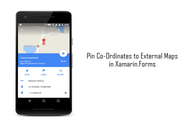 Pin Coordinates To External Maps In Xamarin Forms