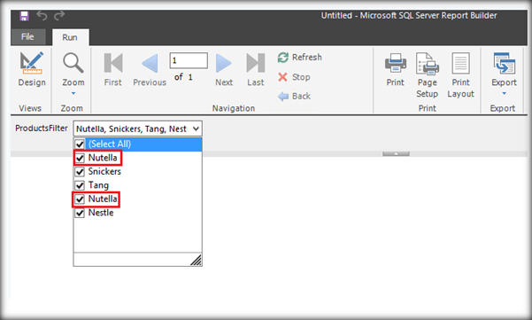 Remove Duplicate Filter Values From SSRS Parameter Drop-Down
