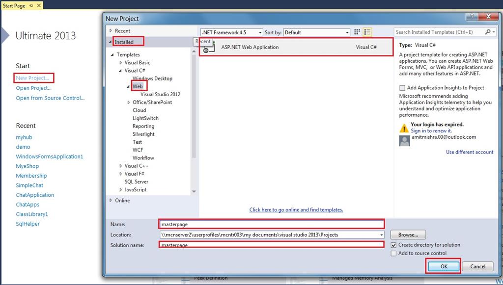 How To Create Master Page In ASP NET