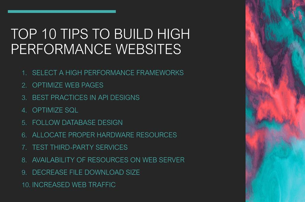 Top 10 Tips High Performance Website