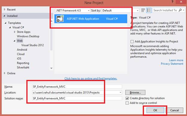 Using Stored Procedure In Entity Framework MVC