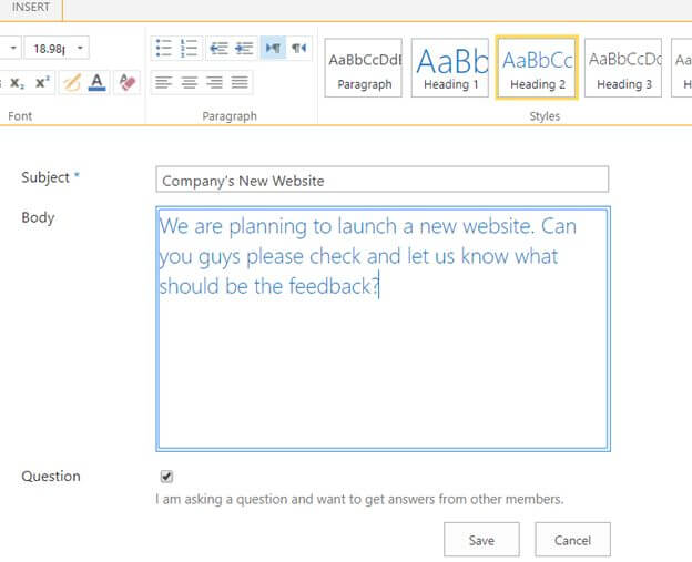 Working with Discussion Boards in SharePoint