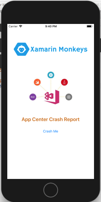 Xamarin Forms - Crashes In Visual Studio App Center