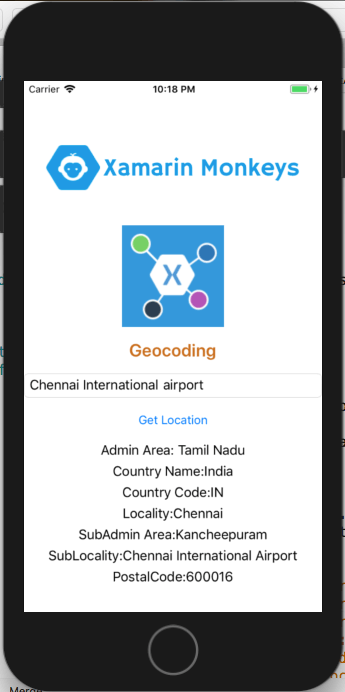 Xamarin Forms - Geocoding Get Full Address (PlacemarK) Using