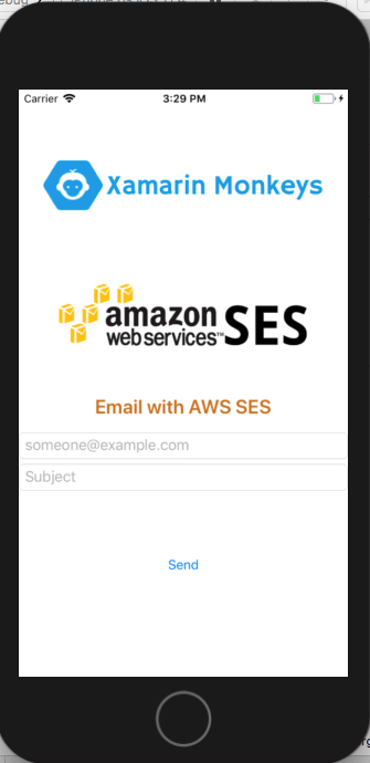 Xamarin Forms - Send Email Using AWS SES (Simple Email Service)