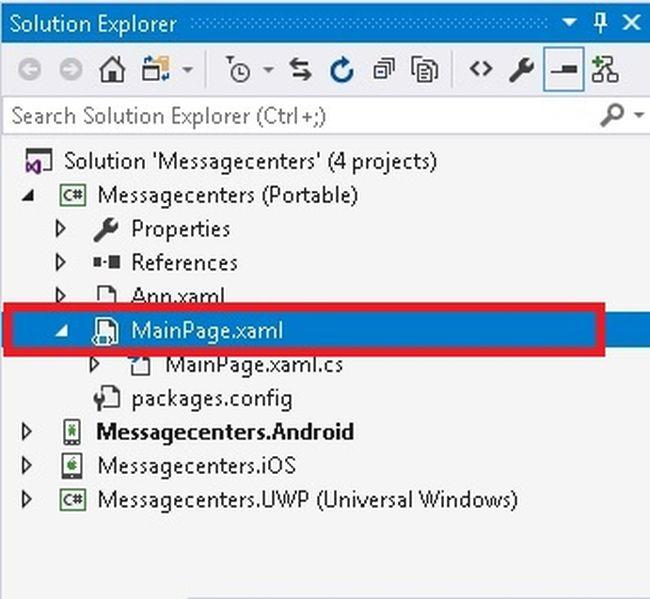 Create Message Center App