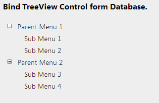 Multi-level treeView from a dataset
