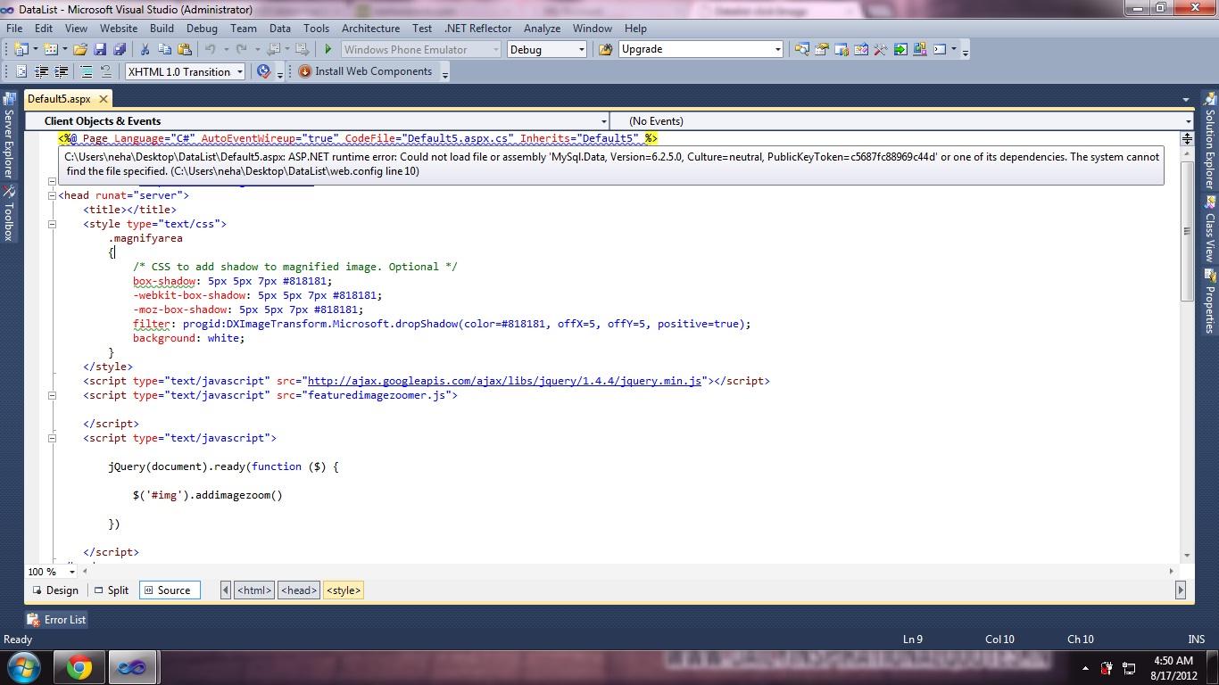 Datalist click Image