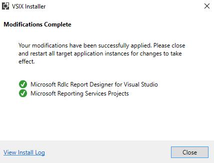 RDLC Report designer in visual studio 2017 not working
