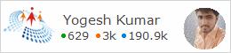 profile for Yogeshkumar C# Corner - A Social Community of Developers and Programmers