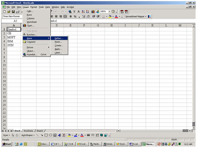 how to create a access database from an excel spreadsheet