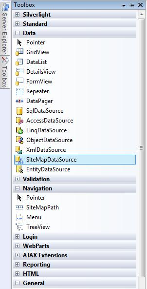 Working with SiteMapDataSource Control in ASP.NET 3.5